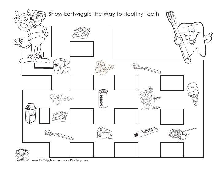 to healthy teeth ear twiggles – Ear Worksheet