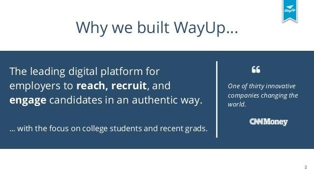 Collecting and Making Sense of Diverse Data at WayUp Slide 2