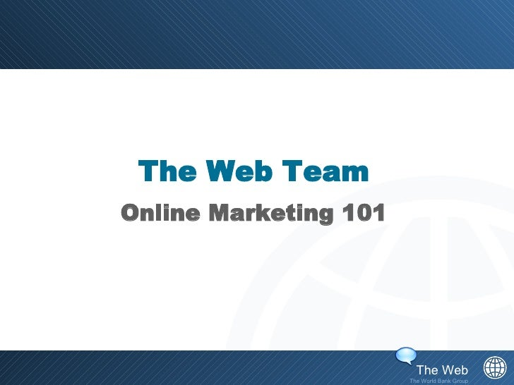 The Web Team Online Marketing 101