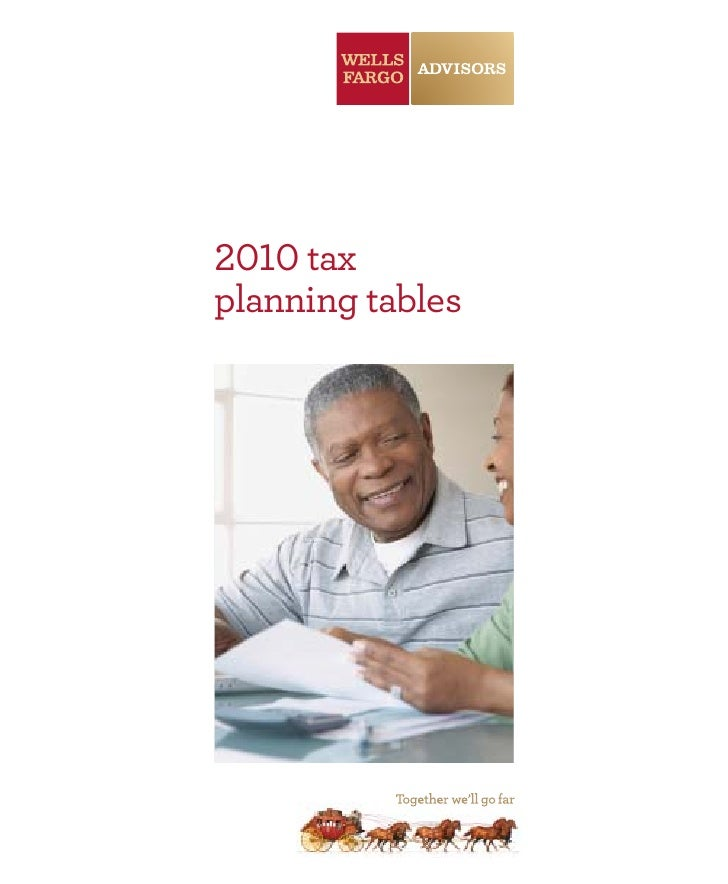 2010 tax planning tables