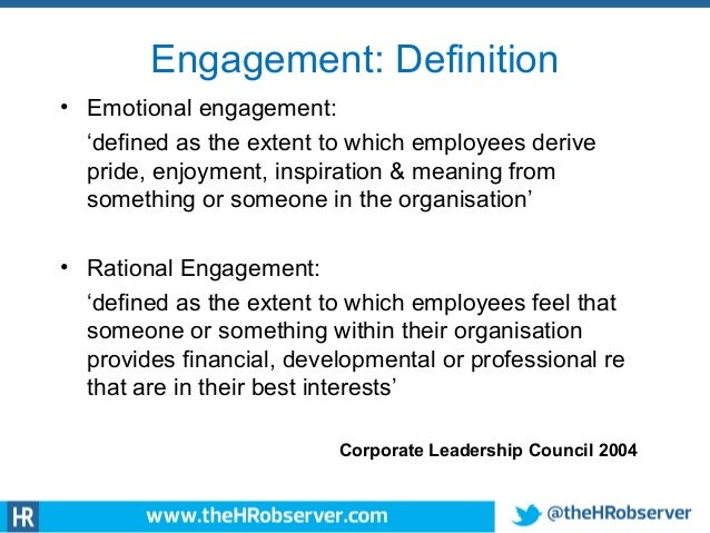 the significance of employee engagement in Having a sense of meaning from work is one of the top three most important  factors cited by employees when it comes to job satisfaction and.