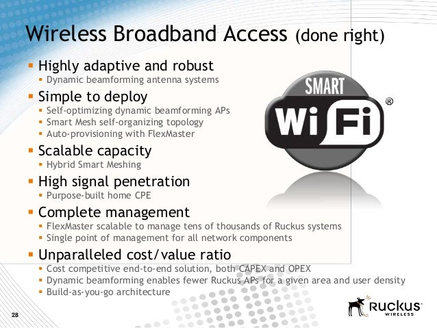28Wireless Broadband Access (done right) Highly adaptive and robust Dynamic beamforming antenna systems Simple to deplo...
