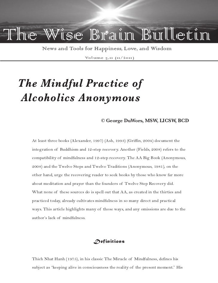 The Wise Brain Bulletin        News and Tools for Happiness, Love, and Wisdom                                Vo l u m e 5 ...