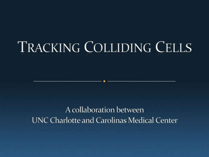 Tracking Colliding Cells <br />A collaboration between <br />UNC Charlotte and Carolinas Medical Center<br />