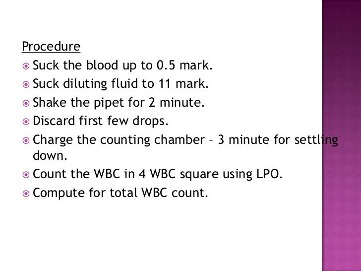 diluting fluid for wbc count