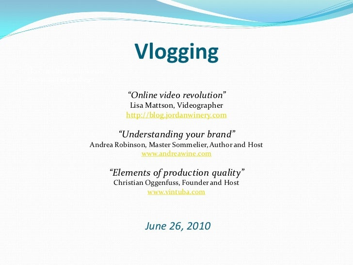"VloggingHow rapidly is online videoviewership expanding?                                   ""Online video revolution""      ..."