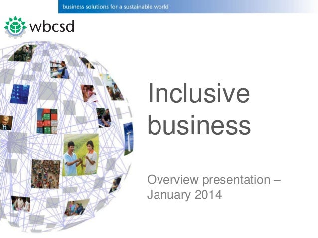 wbcsd work in inclusive business targeting the base of the pyramid