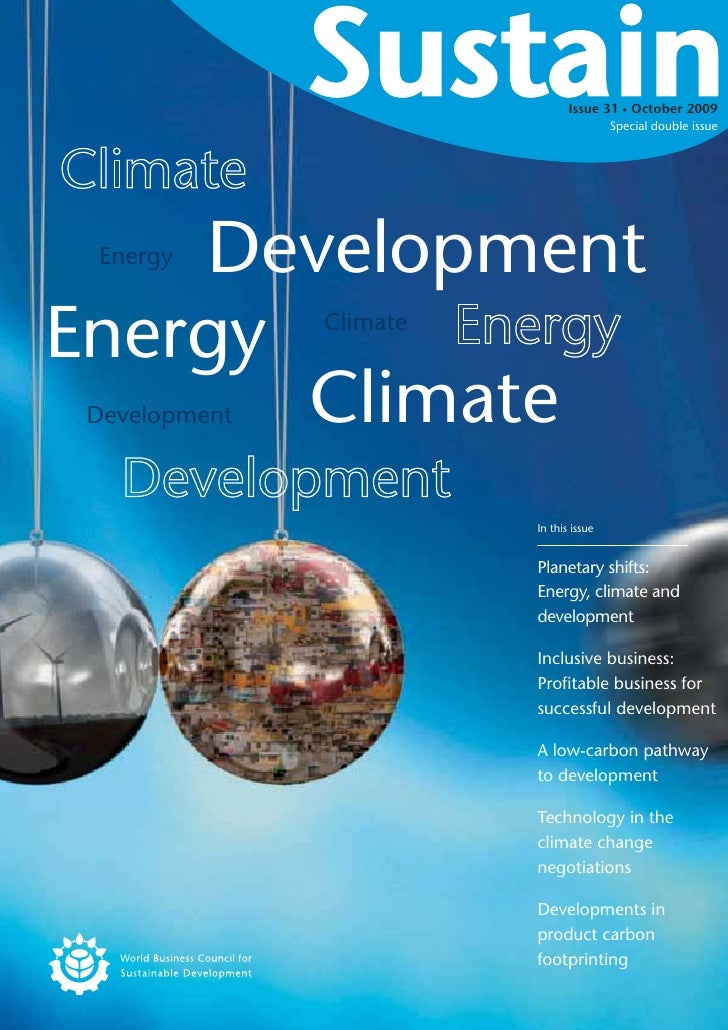 Issue 31 October 2009                                            Special double issue         Development  Energy   Energy...