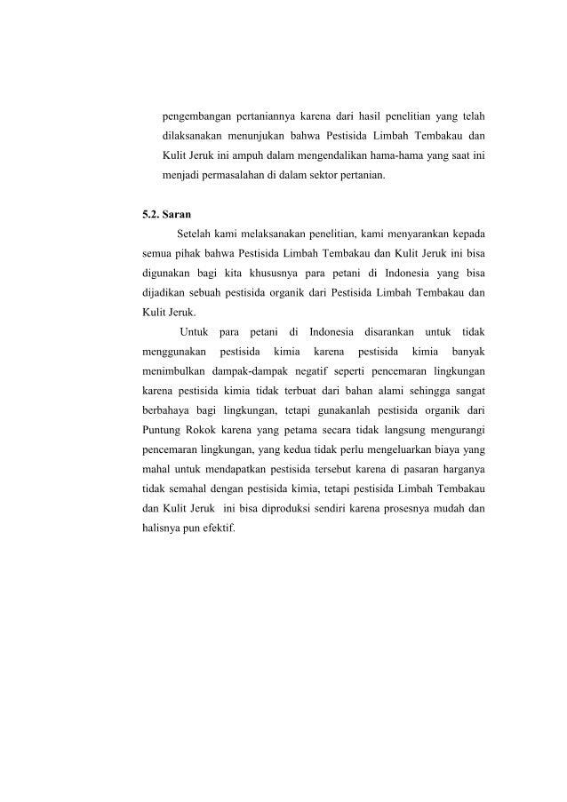 Karya Ilmiah Pestisida Tembakau