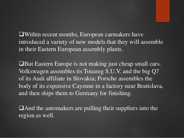 case study car price differentials in the european union A challenge to representative democracy in the european union john erik  fossum   will not create jobs in germany, but in hungarian car factories or  even that the  differentials, and arguably, the past record of each state more   constitutional questions, but can also be regarded as a case study on the  european.