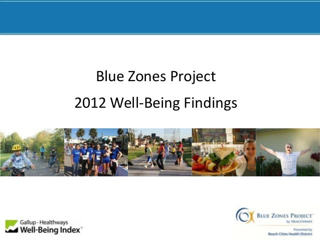 Blue Zones Project2012 Well-Being Findings