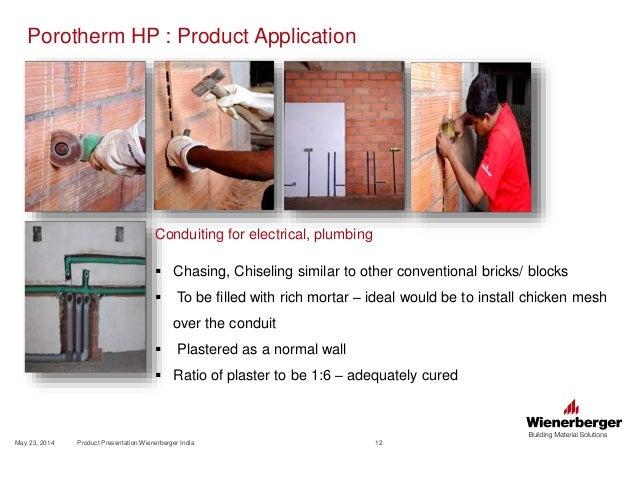 Wienerberger Porotherm Hp Clay Bricks Horizontally