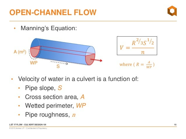 ... 15.  sc 1 st  SlideShare & Let it Flow! Culvert Design 101 u2013 Basic Hydraulics Culvert Location u2026