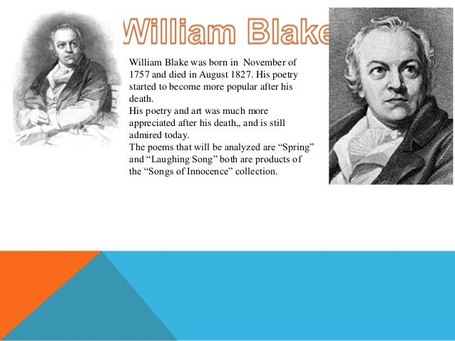 william blake and his story in songs 'the wildflower's song' by william blake is a three-stanza poem that embraces   by embracing the situation as his own, the story becomes a first-hand account.