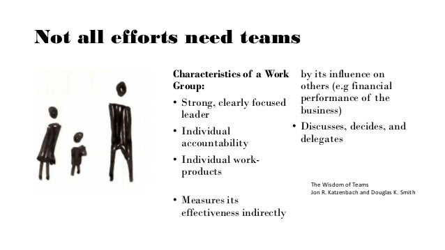 What is a team? • Common PURPOSE • Performance GOALS • Complimentary SKILLS • Mutual ACCOUNTABILITY The Wisdom of Teams Jo...