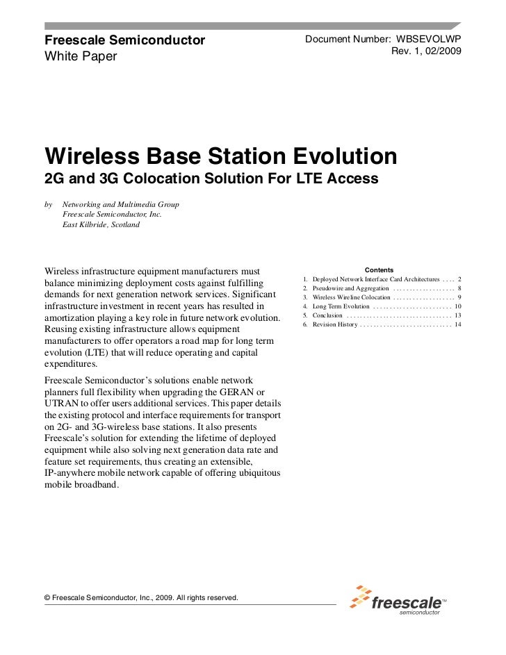 Freescale Semiconductor                                           Document Number: WBSEVOLWP                              ...