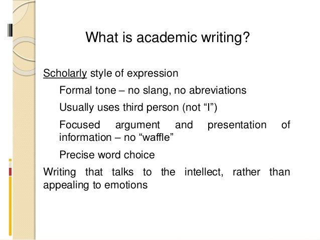 Taboo words in academic writing
