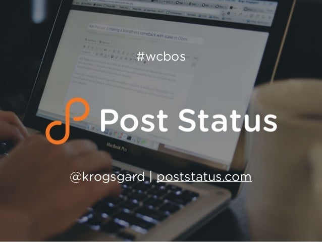 @krogsgard | poststatus.com #wcbos