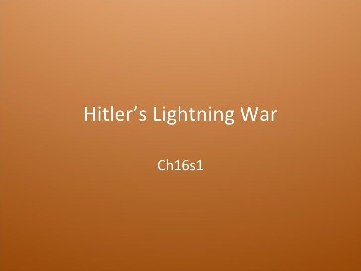 Hitler's Lightning War Ch16s1