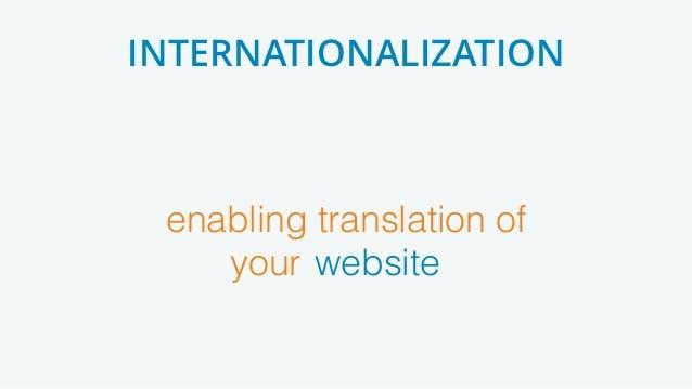 enabling translation of your [product] INTERNATIONALIZATION website
