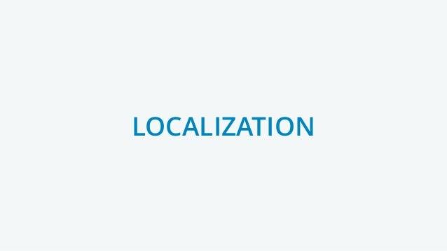 LOCALIZATIONOCALIZATIO