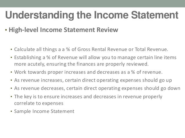 Vacation Rental Income Statements HowTo Ben Edwards Weatherby Co
