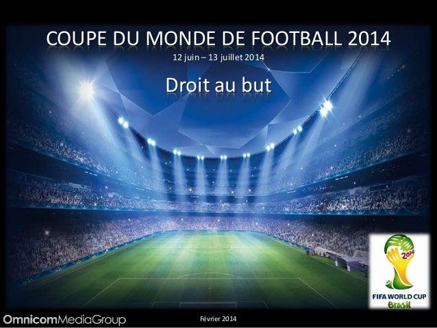 COUPE DU MONDE DE FOOTBALL 2014 12 juin – 13 juillet 2014 Droit au but Février 2014