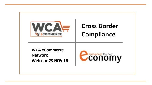 WCA eCommerce Cross Border Compliance