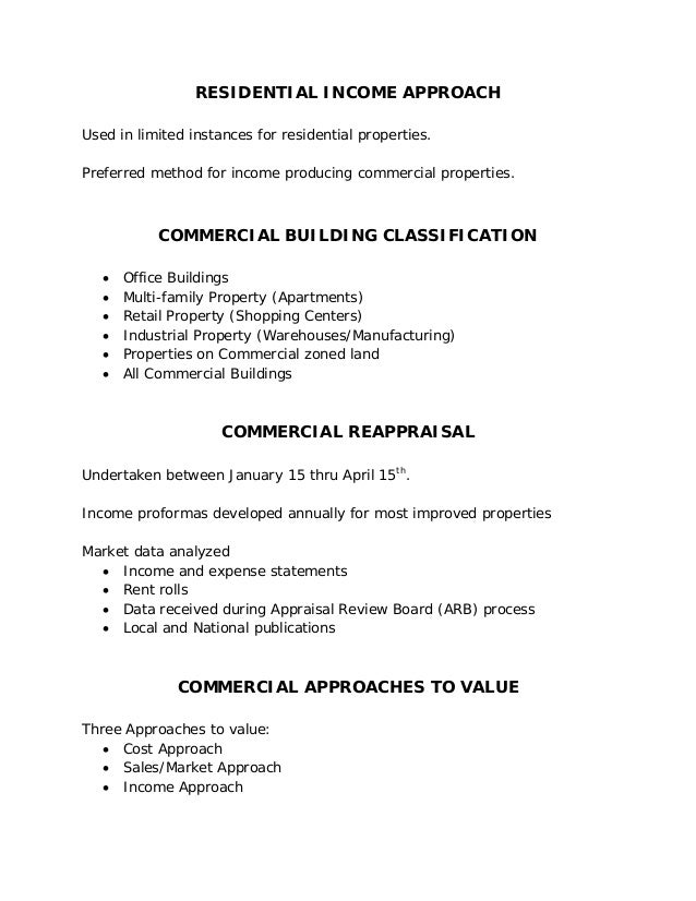 Waller County Appraisal District Valuation Process