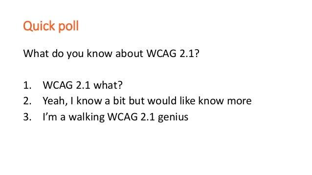 WCAG 2.1 update for designers Slide 3