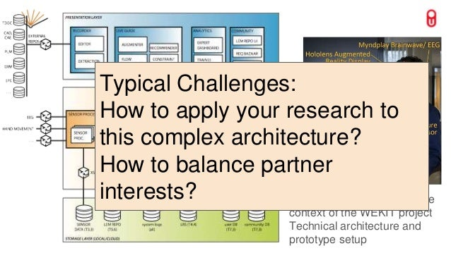 Expertise development in the context of the WEKIT project Technical architecture and prototype setup Typical Challenges: H...