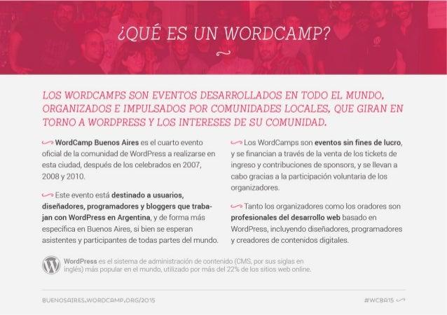07 de abril de 2015: Andrés Villarreal - WordCamp Buenos Aires 2015 Slide 2