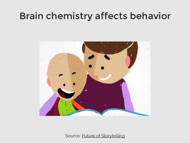 Brain chemistry affects behavior Source: Future of Storytelling
