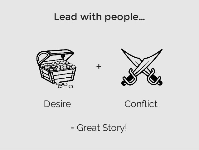 Lead with people… = Great Story! + Desire Conflict