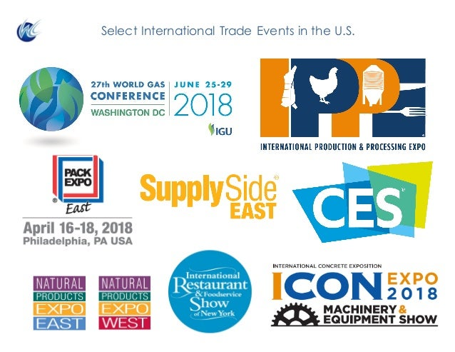 Select International Trade Events in the U.S.