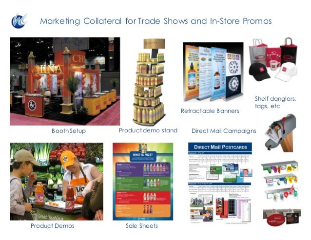Direct Mail Campaigns Retractable Banners Sale SheetsProduct Demos Booth Setup Product demo stand Marketing Collateral for...