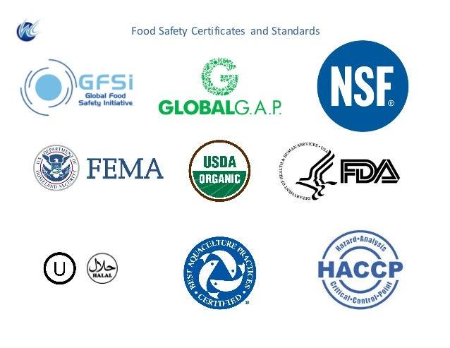 FoodSafetyCertificates andStandards