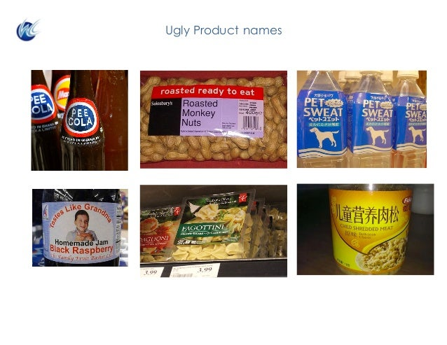 Ugly Product names