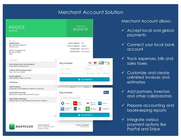Merchant Account Solution Merchant Account allows: ü Accept local and global payments ü Connect your local bank account ü ...