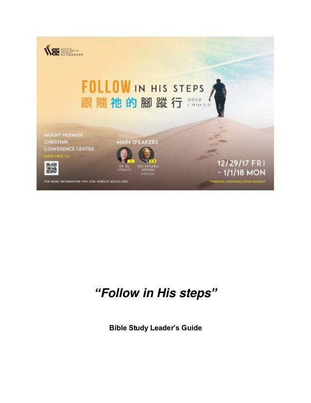 """Follow in His steps"" Bible Study Leader's Guide"