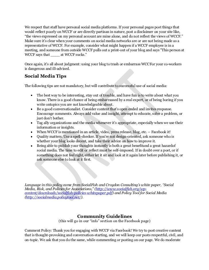 MCCFDraft Social Media Policy Slide 3