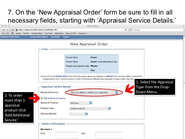 11. 7. On The U0027New Appraisal Orderu0027 Form ...