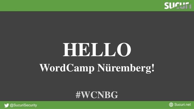 HELLO WordCamp Nüremberg! #WCNBG