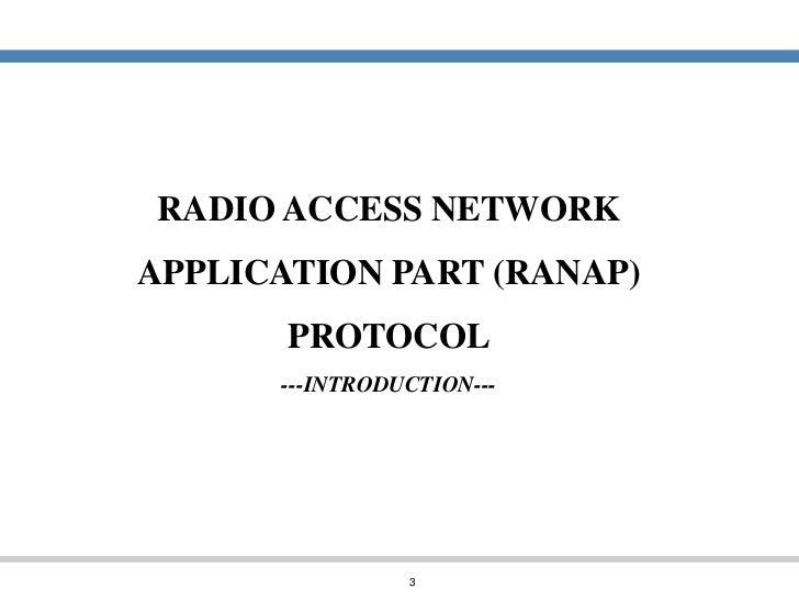 Wcdma ran protocols and procedures