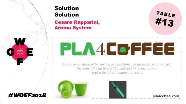 Solution Solution Cesare Rapparini, Aroma System A new generation of bioresins, compostable, biodegradable, biobased, ther...