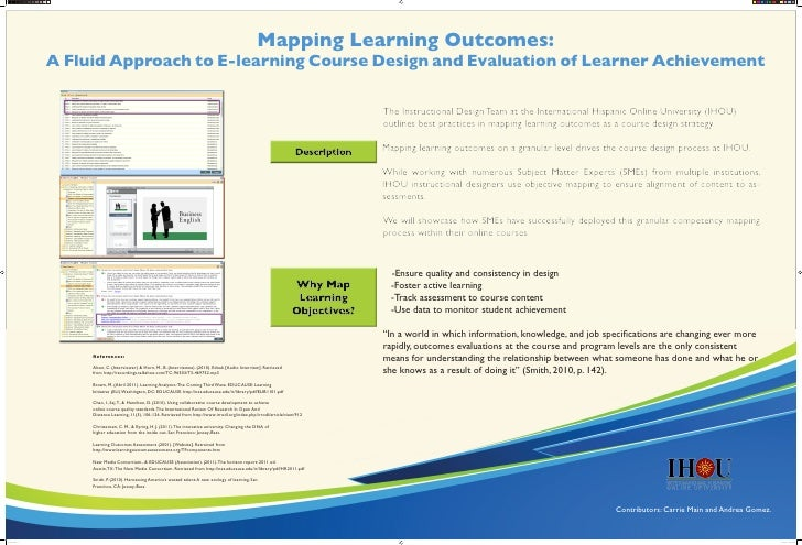 Mapping Learning Outcomes:                A Fluid Approach to E-learning Course Design and Evaluation of Learner Achieveme...