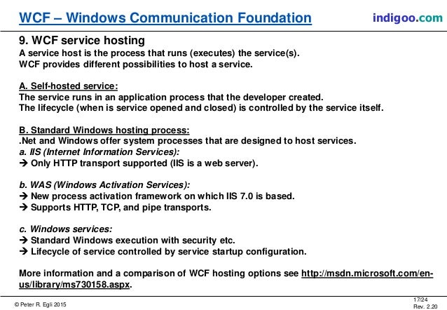 windows communication foundation (wcf) services http activation