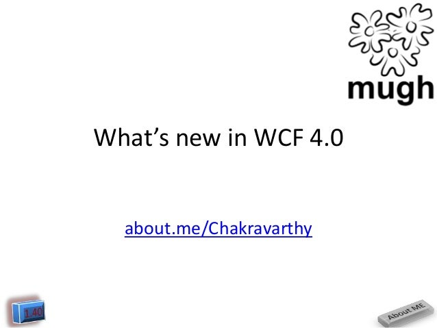 What's new in WCF 4.0  about.me/Chakravarthy
