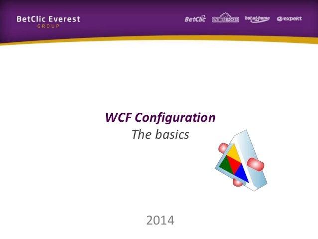 2014 WCF Configuration The basics