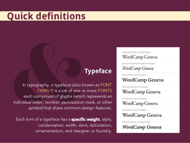Typeface, Typography, Theme    Design matters